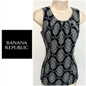 Banana Republic round neck sleeveless top